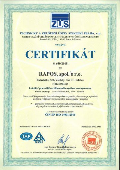 [:cs]Certifikát 14001 CZ-1[:]