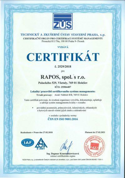 [:cs]Certifikát 9001 CZ-1[:]